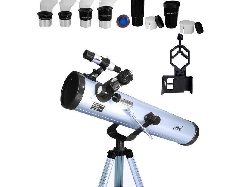 Telescop Seben Big Pack 76/700 cu adaptor de smartphone DKA5